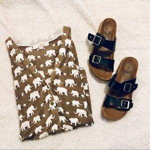 Ann Taylor LOFT Camel Tan Elephant Print Cardigan
